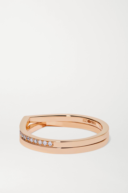 Repossi Antifer 18-karat rose gold diamond ring