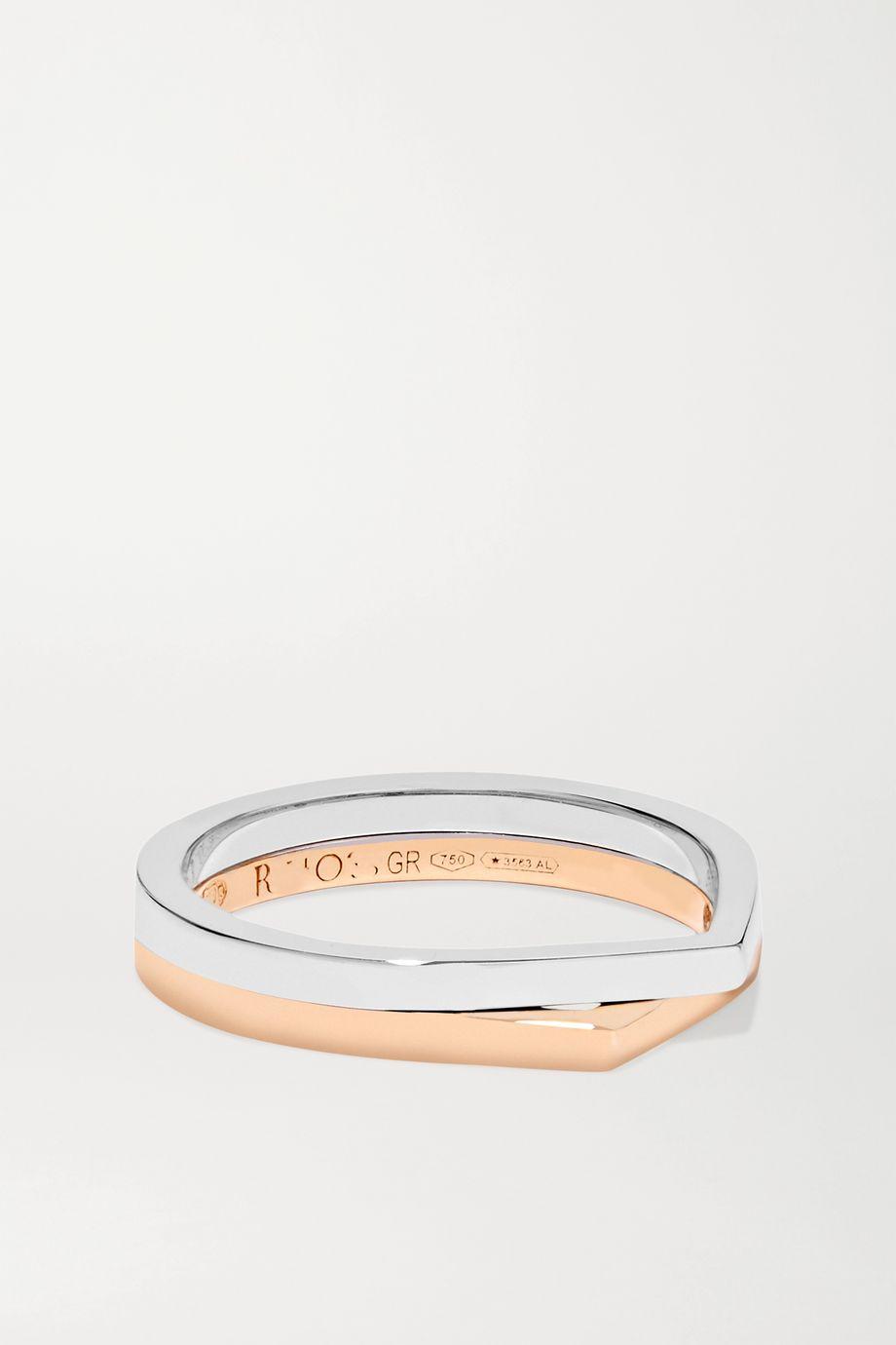 Repossi Antifer 18-karat rose and white gold ring