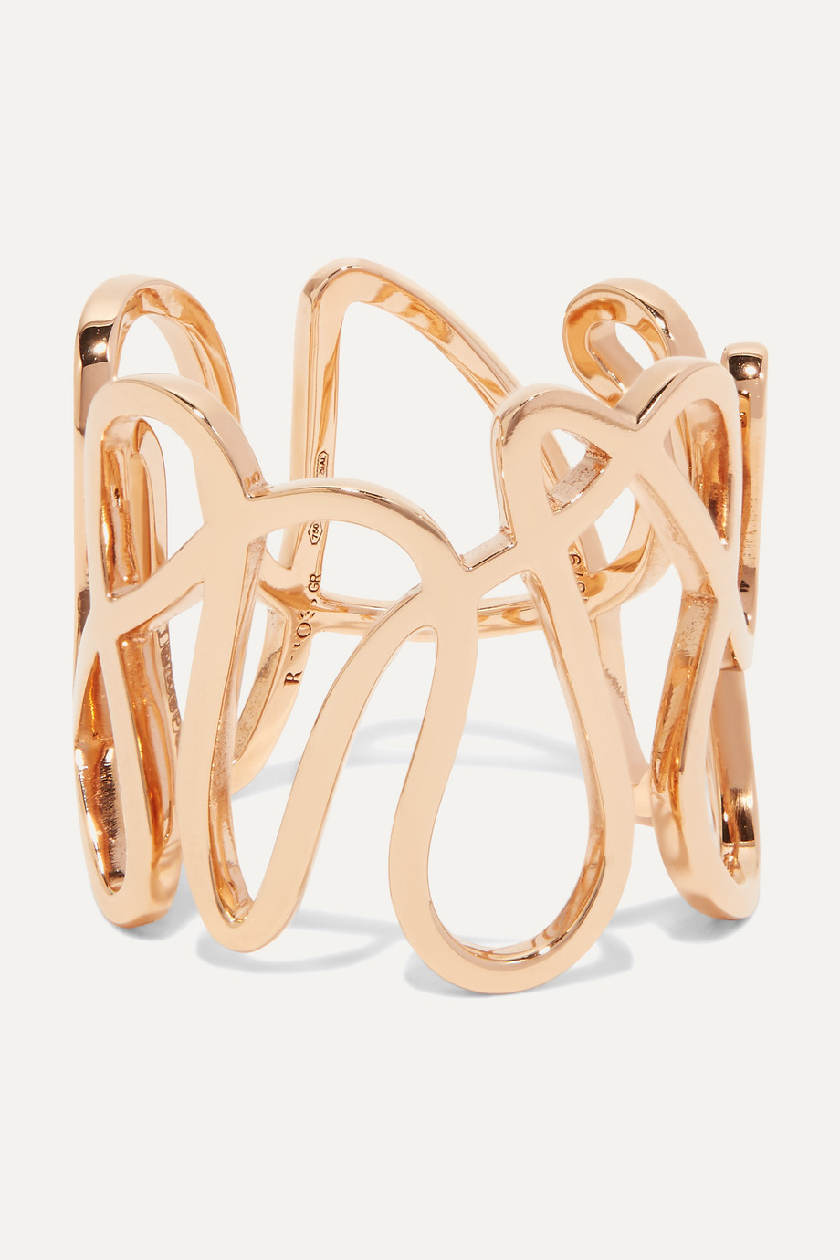 Repossi White Noise 18-karat rose gold ring