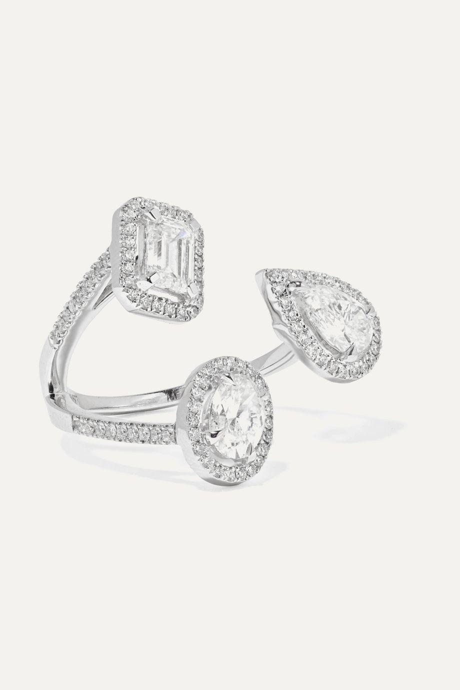 Messika My Twin Trilogy 18-karat white gold diamond ring