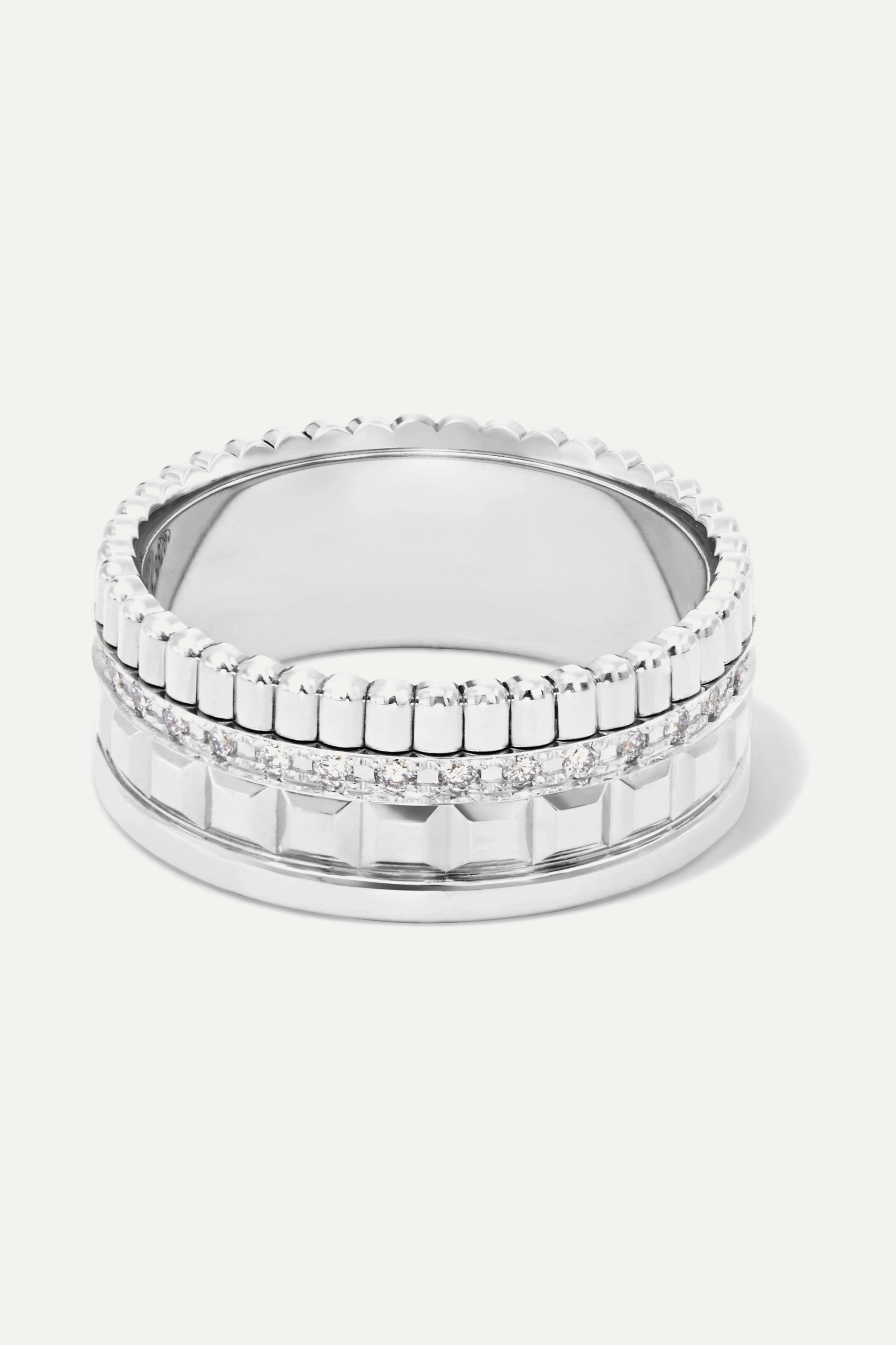 Boucheron Quatre Radiant Edition Small Ring aus 18 Karat Weißgold mit Diamanten