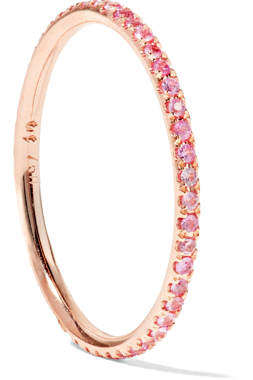 Ileana Makri Thread 18-karat rose gold sapphire ring