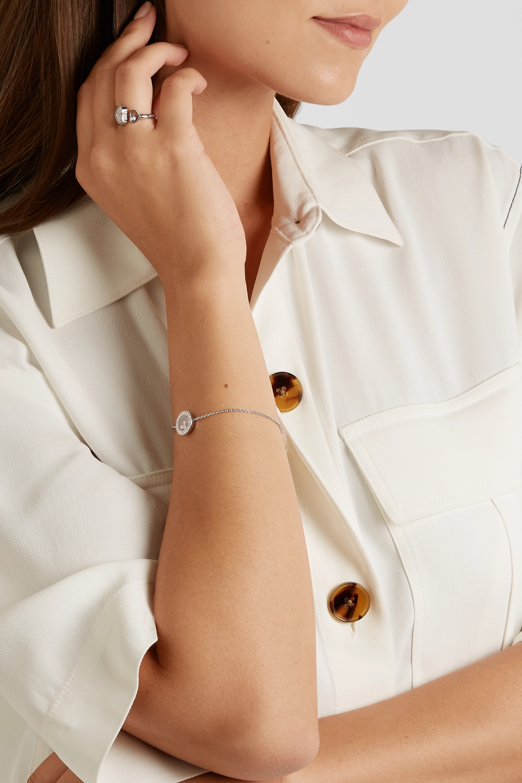 Chopard Happy Hearts 18-karat white gold diamond ring