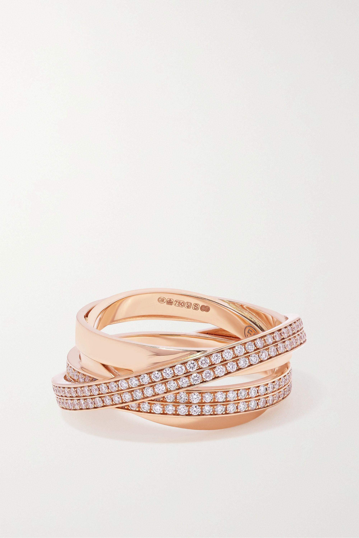Repossi Technical Berbère Ring aus 18 Karat Roségold mit Diamanten