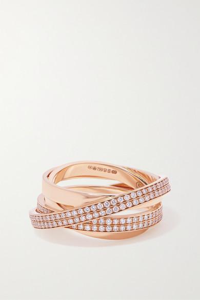 Repossi Technical Berbère 18-karat Rose Gold Diamond Ring