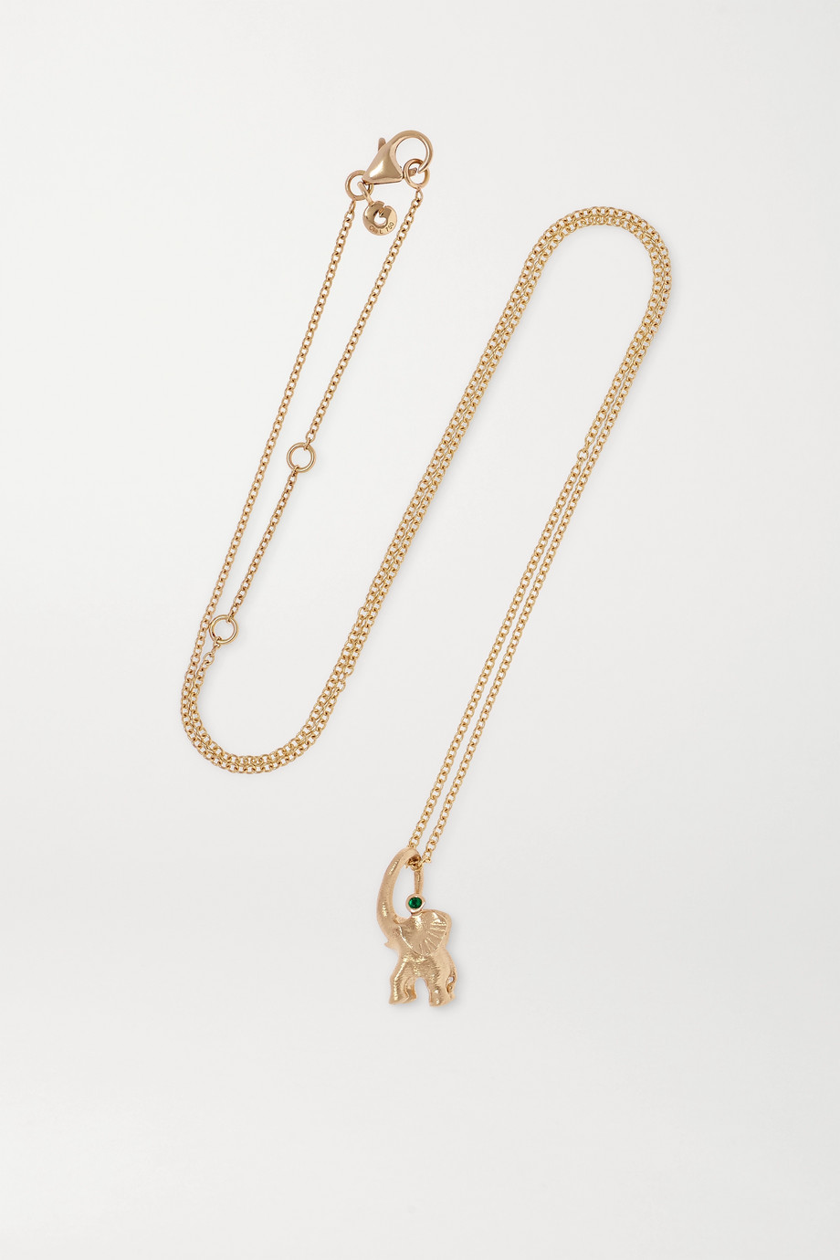OLE LYNGGAARD COPENHAGEN + Space For Giants My Little World 18-karat gold emerald necklace