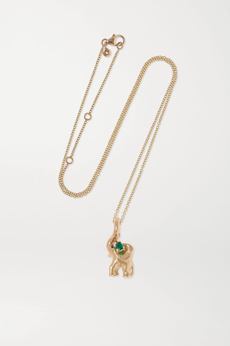 OLE LYNGGAARD COPENHAGEN + Space For Giants Sweet Drops 18-karat gold emerald necklace