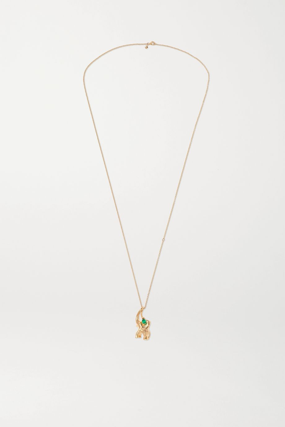 OLE LYNGGAARD COPENHAGEN + Space For Giants 18-karat gold emerald necklace