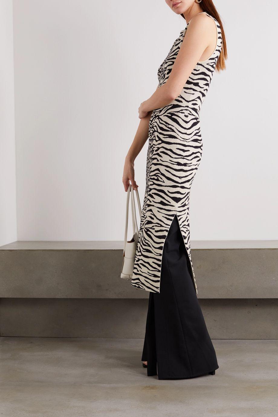 Proenza Schouler White Label Robe midi en mailles jacquard