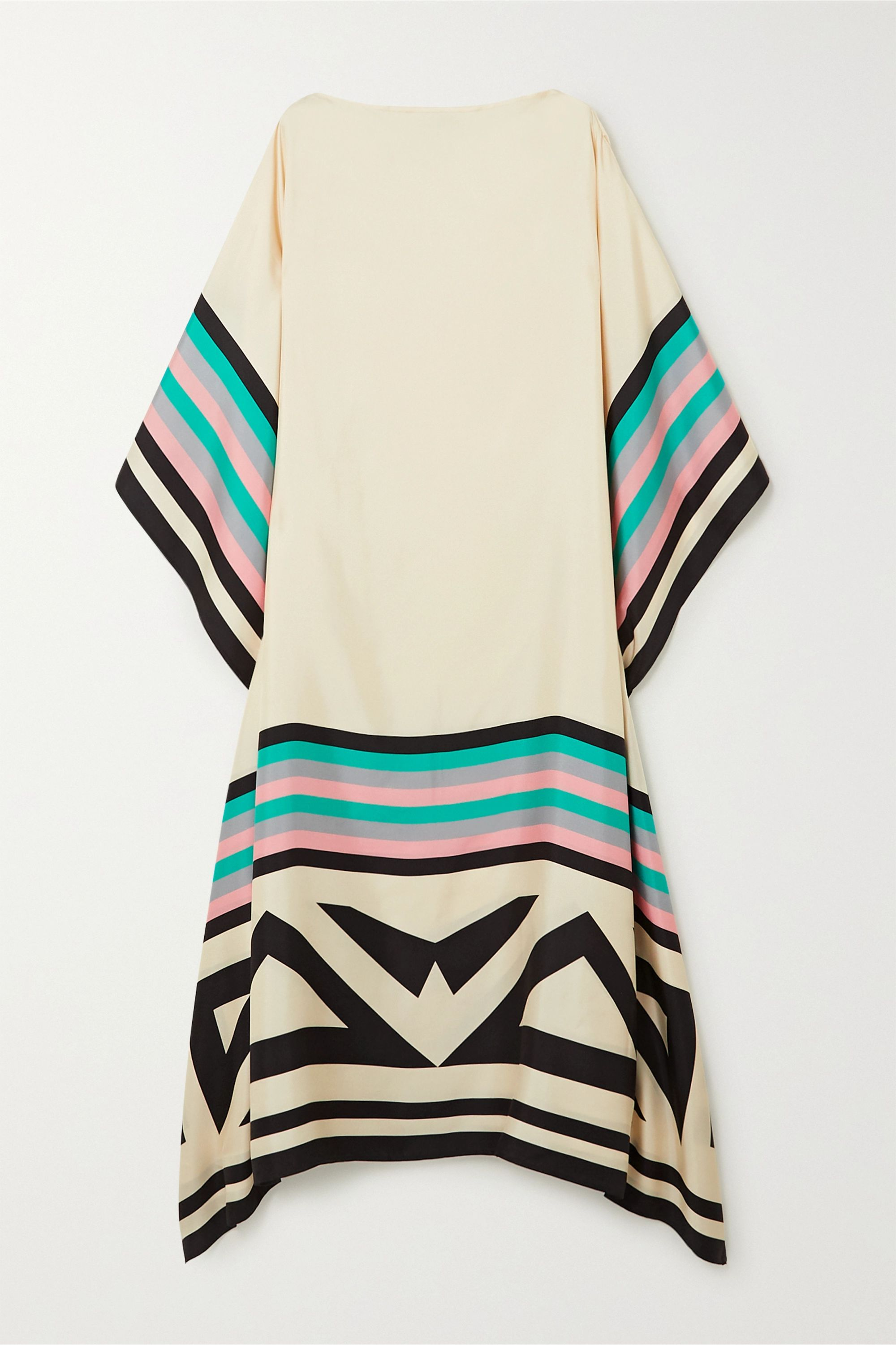 Louisa Parris Eliza printed silk-twill maxi dress