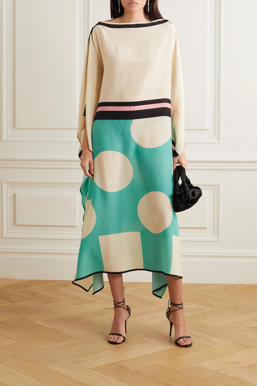 Louisa Parris Cecile printed silk crepe de chine maxi dress