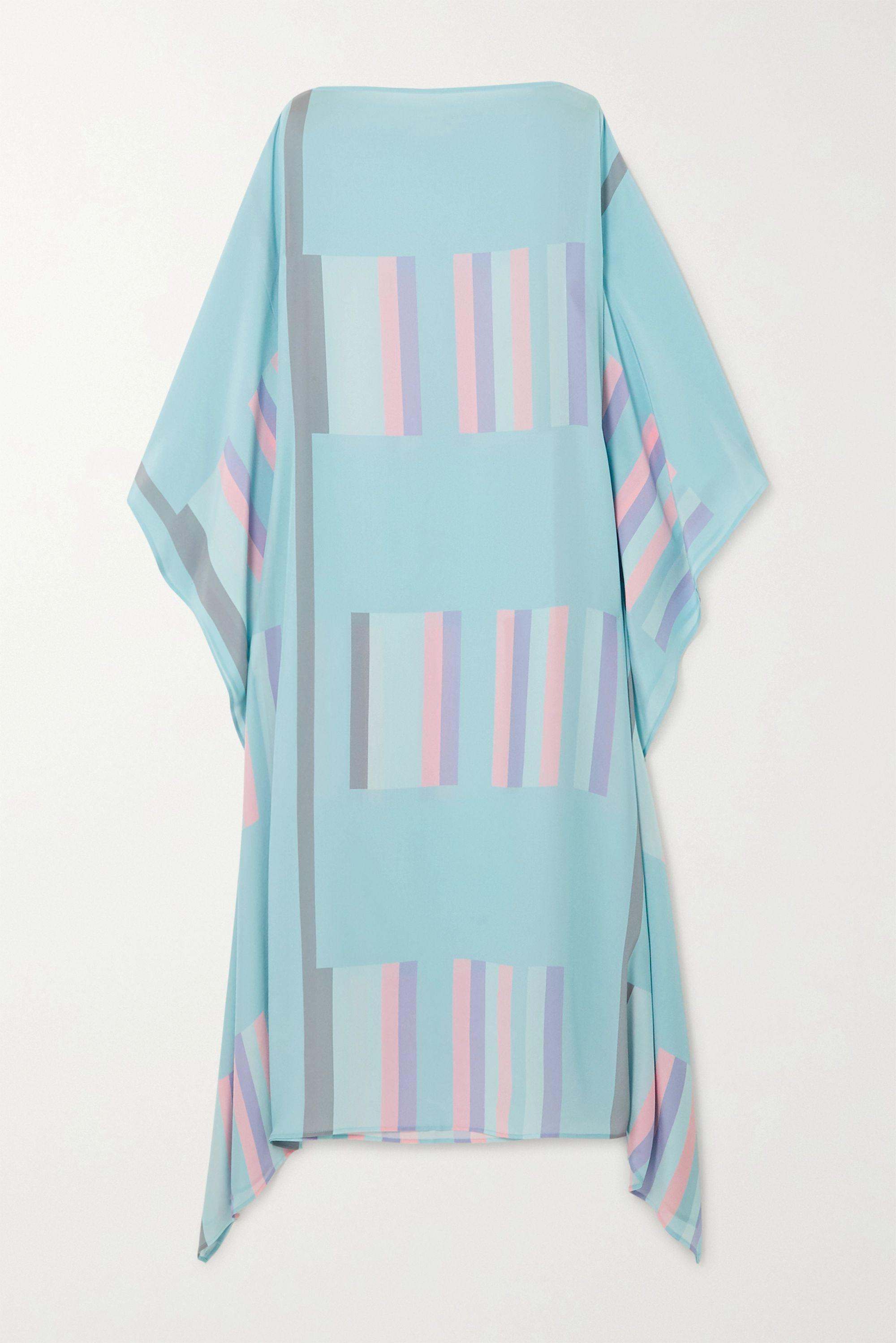 Louisa Parris Sybil striped silk crepe de chine maxi dress