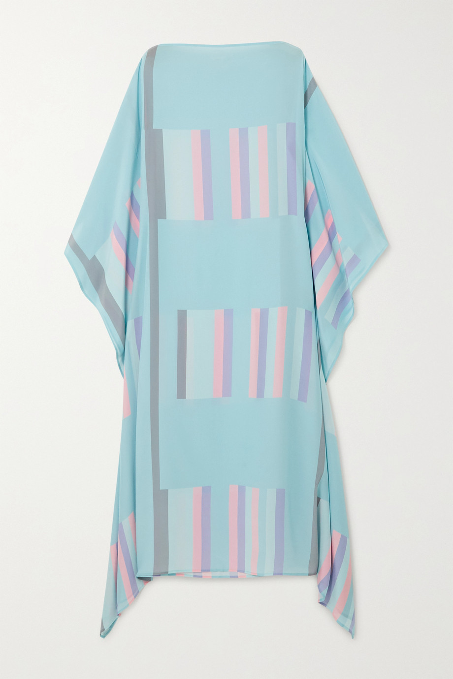 Louisa Parris Sybil striped silk crepe de chine maxi dress