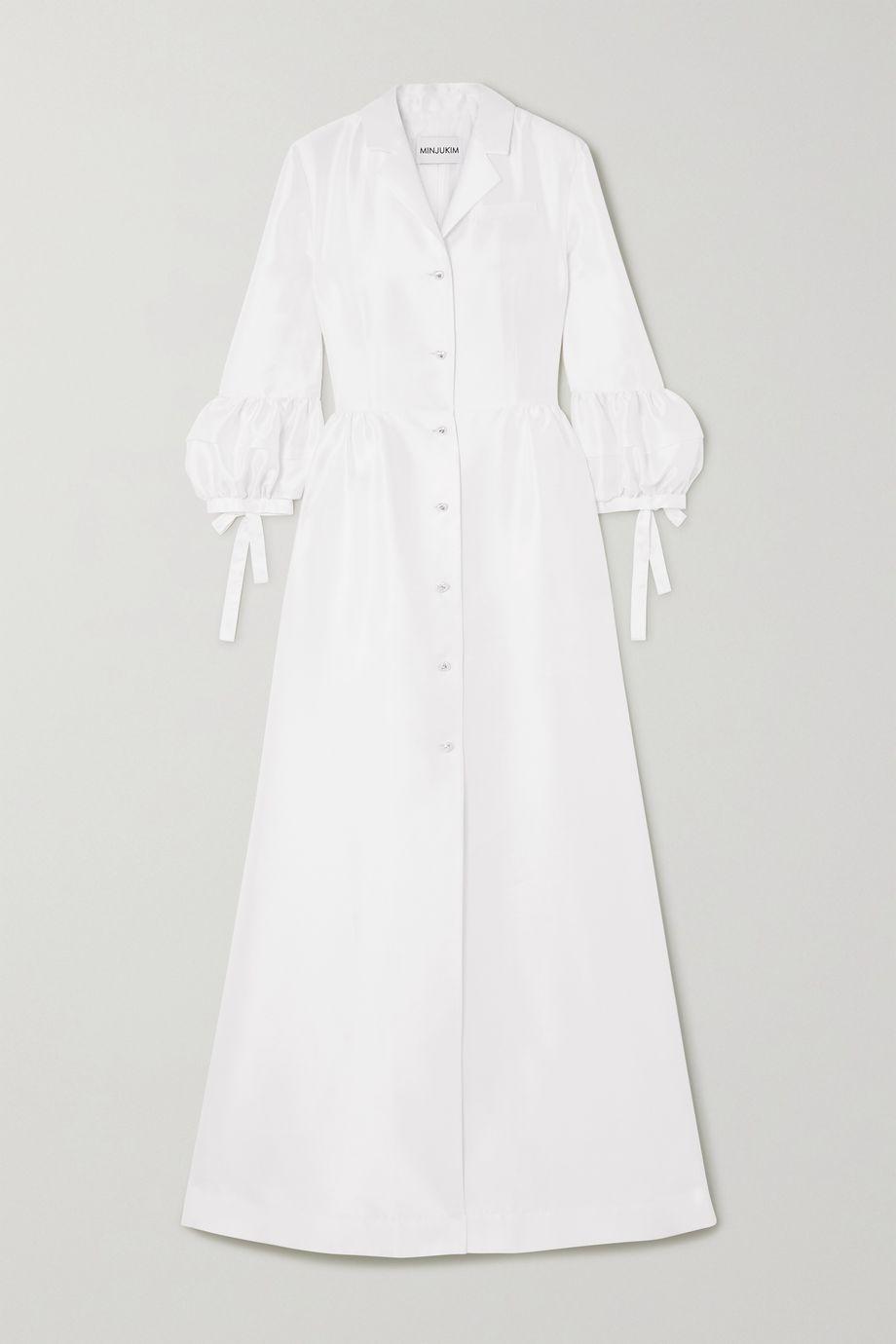 MINJUKIM Duchesse-satin maxi dress