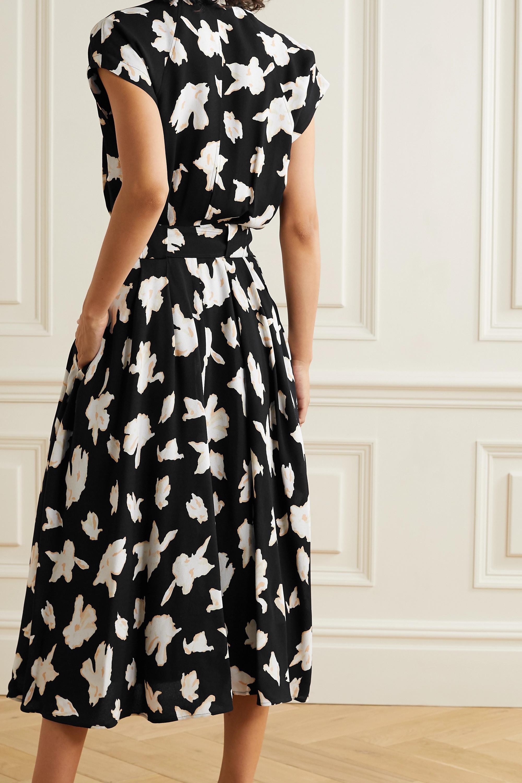 Proenza Schouler Belted floral-print georgette midi dress