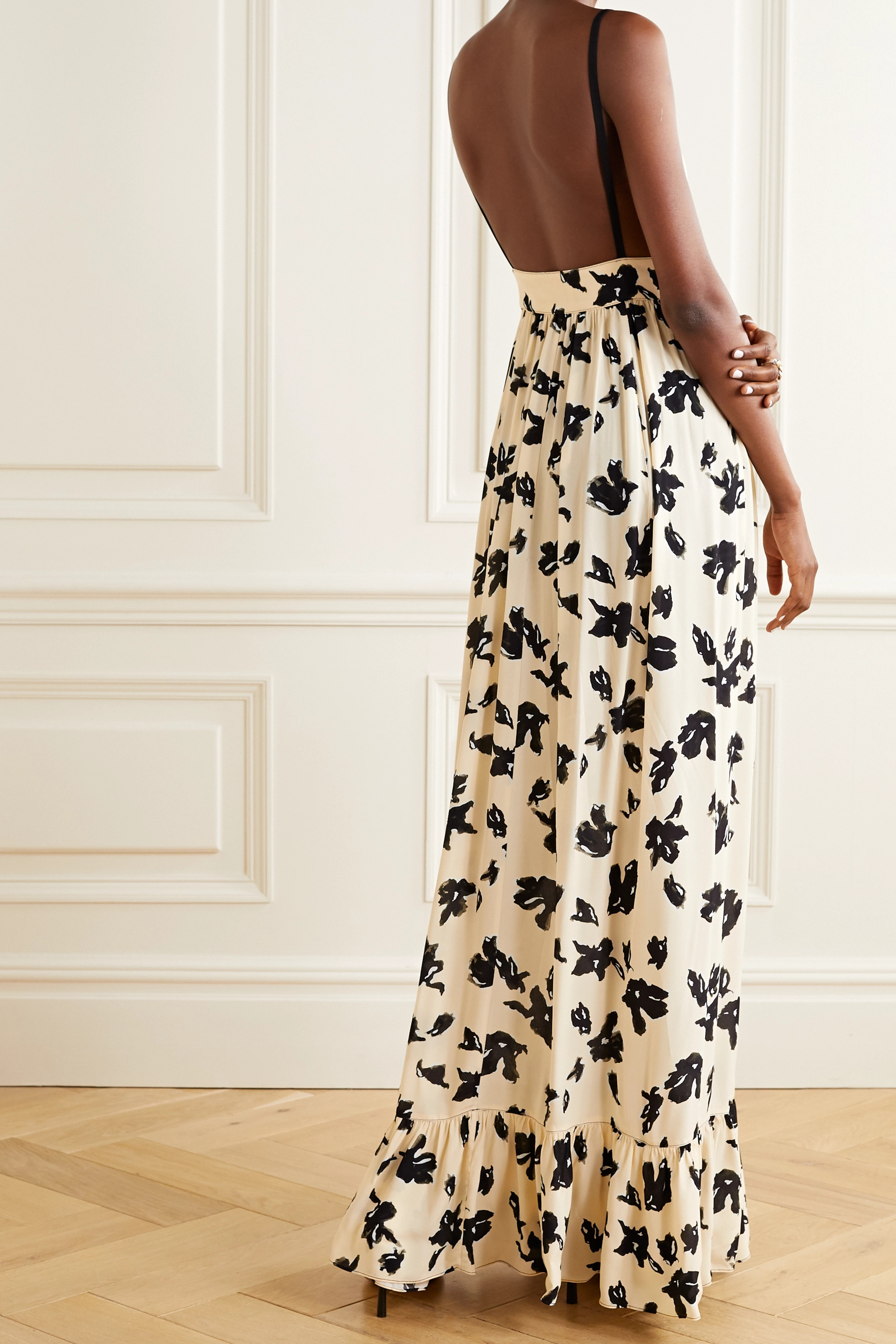 Proenza Schouler Floral-print crepe de chine maxi dress
