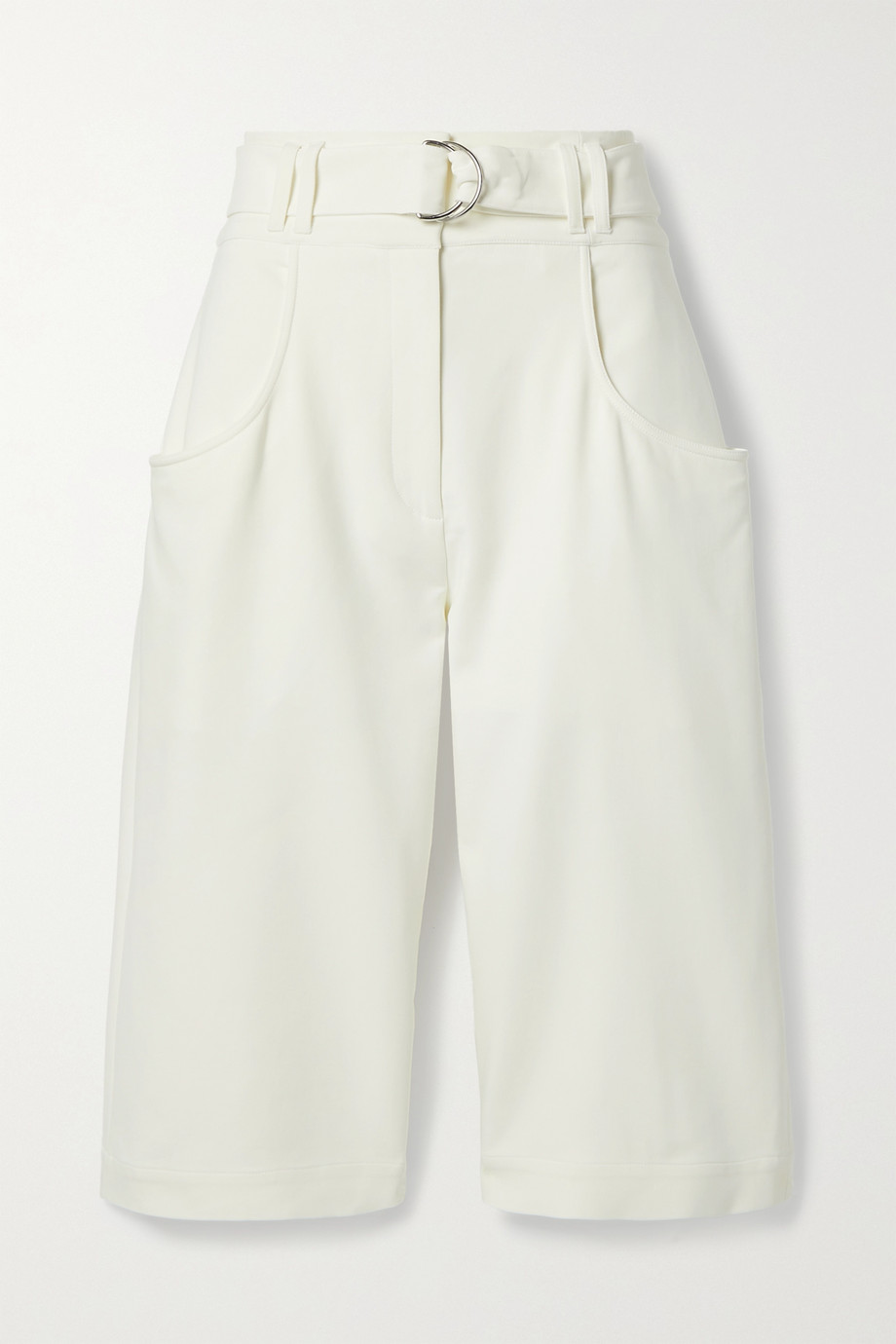 Proenza Schouler Belted crepe shorts