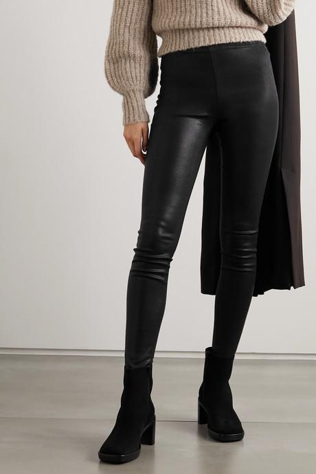 Rochelle coated high-rise skinny jeans