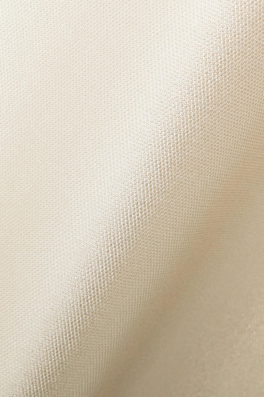Beige Satin-piqué Gown | Reem Acra