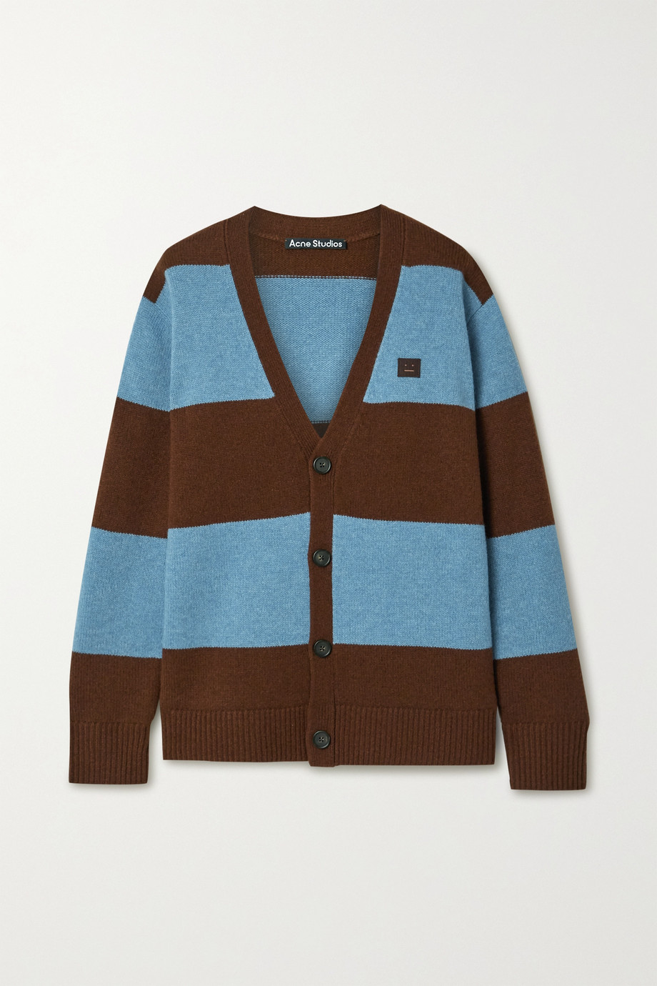 Acne Studios Appliquéd striped wool cardigan
