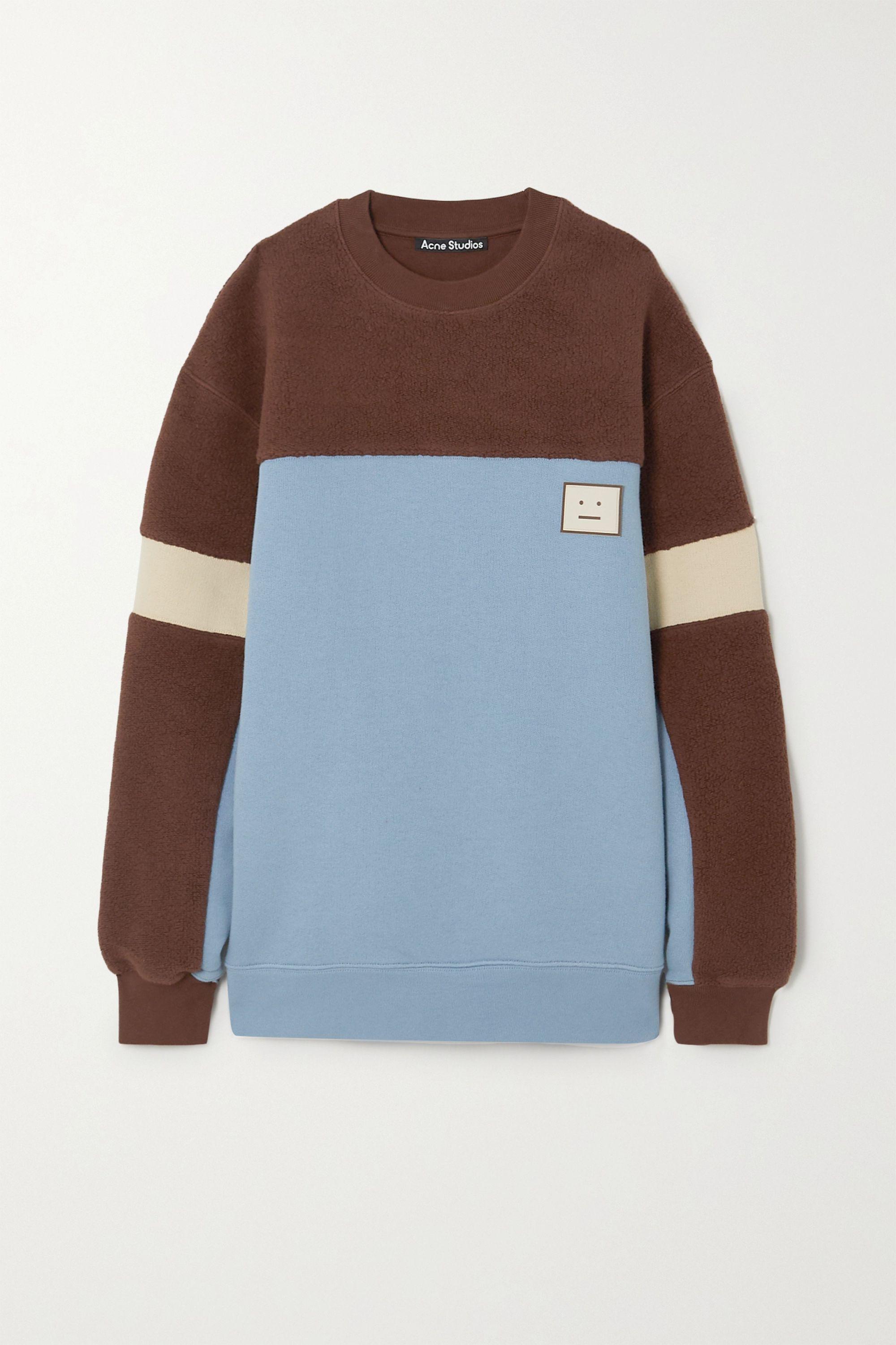 Acne Studios Paneled cotton-jersey and fleece sweatshirt