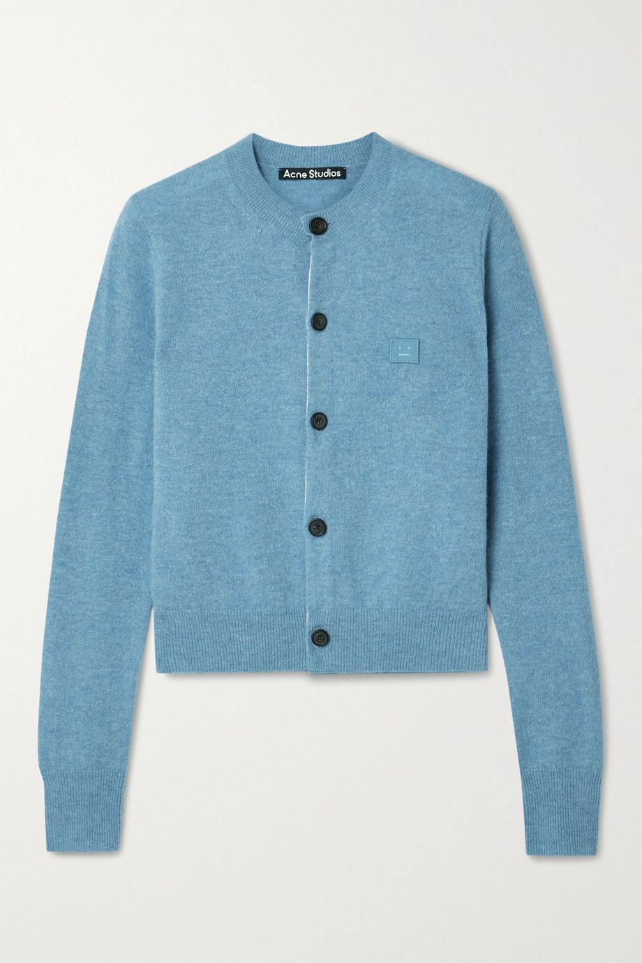 Acne Studios Cardigan aus Wolle mit Applikation