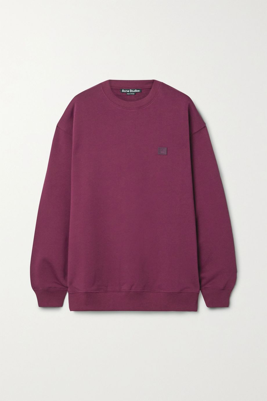 Acne Studios Appliquéd cotton-jersey sweatshirt