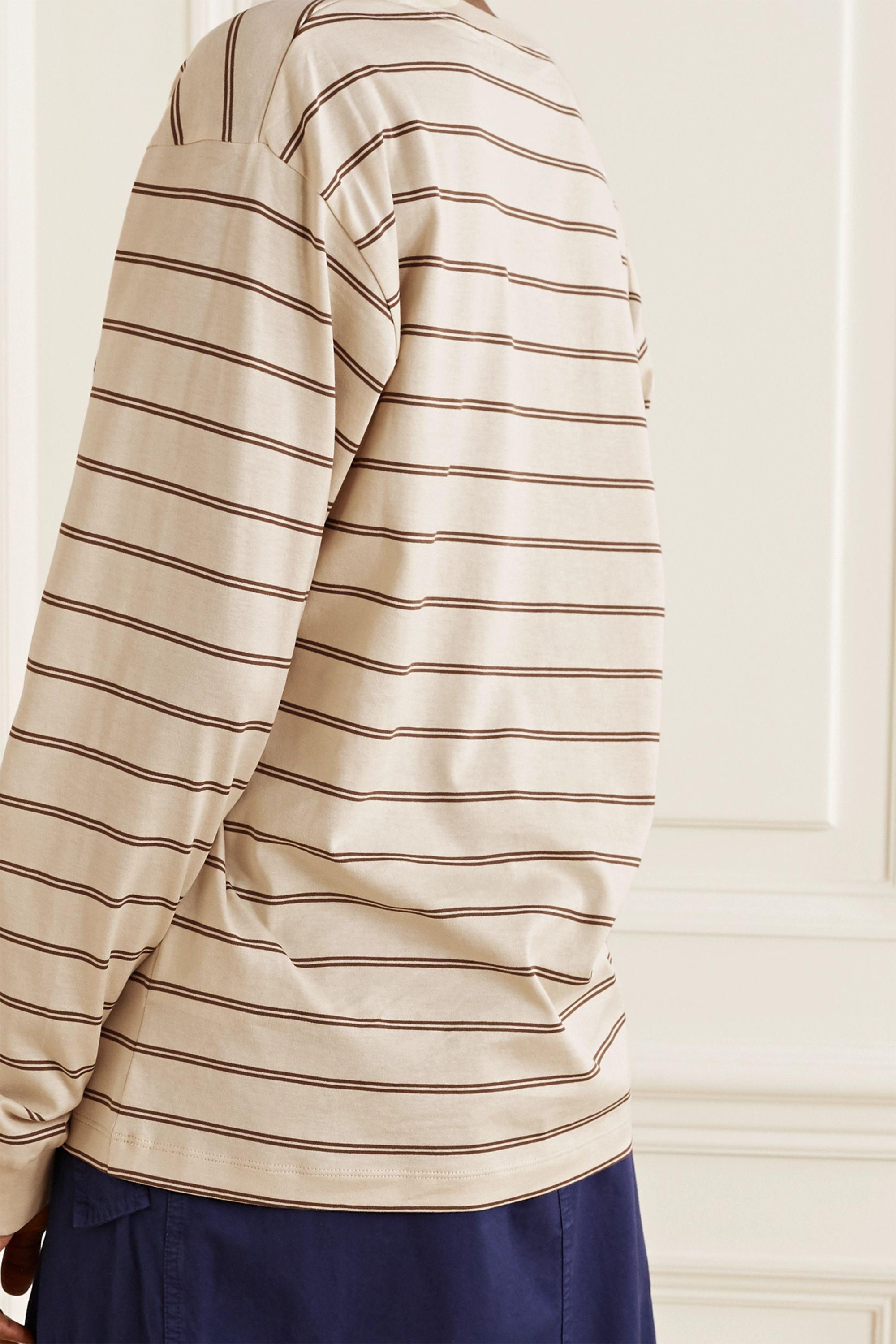 Acne Studios Appliquéd striped cotton-jersey T-shirt