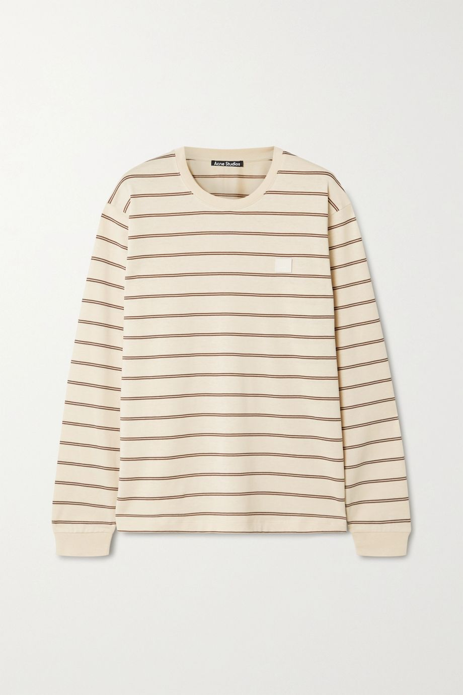 Acne Studios Appliquéd striped cotton-jersey T-shirt