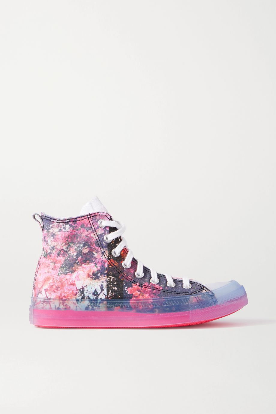 Converse + Shaniqwa Jarvis Chuck Taylor CX printed canvas high-top sneakers