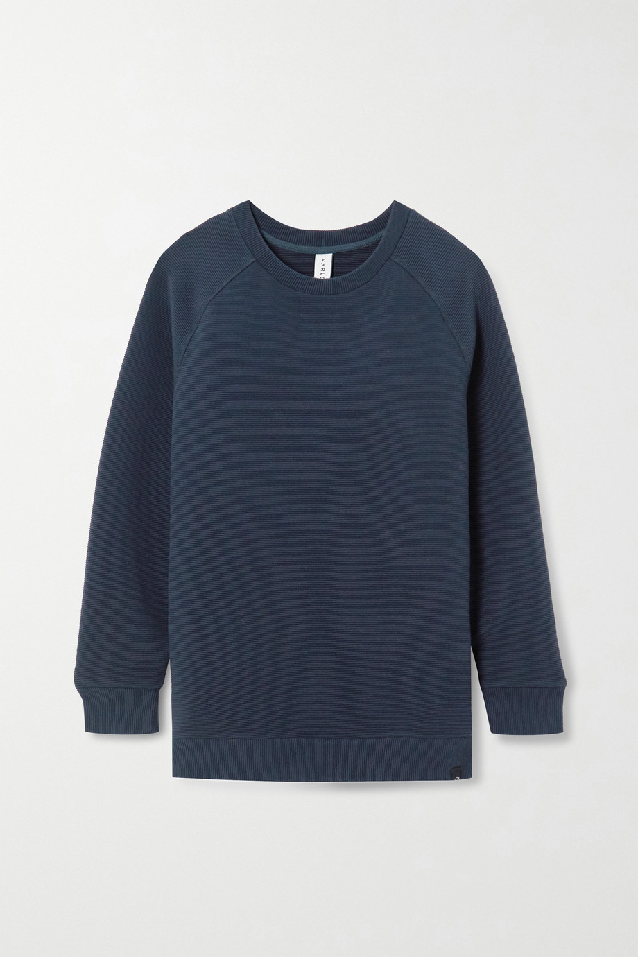 Varley Manning zip-detailed ribbed cotton-blend sweatshirt