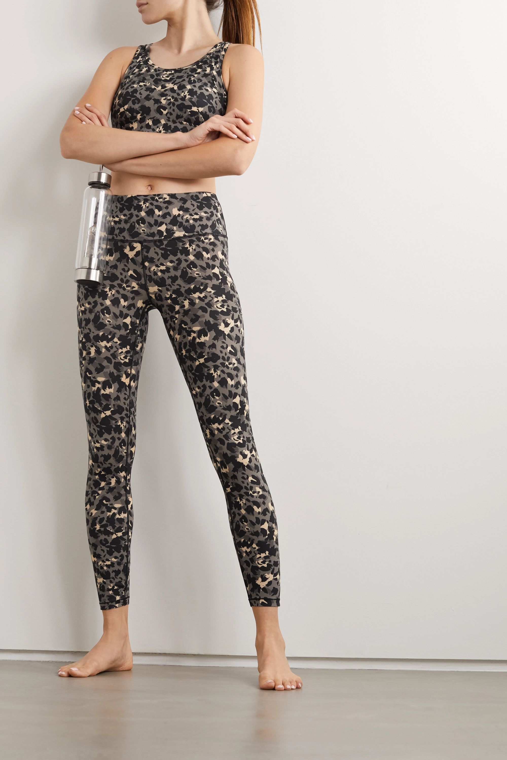 Varley Century Stretch-Leggings mit Leopardenprint