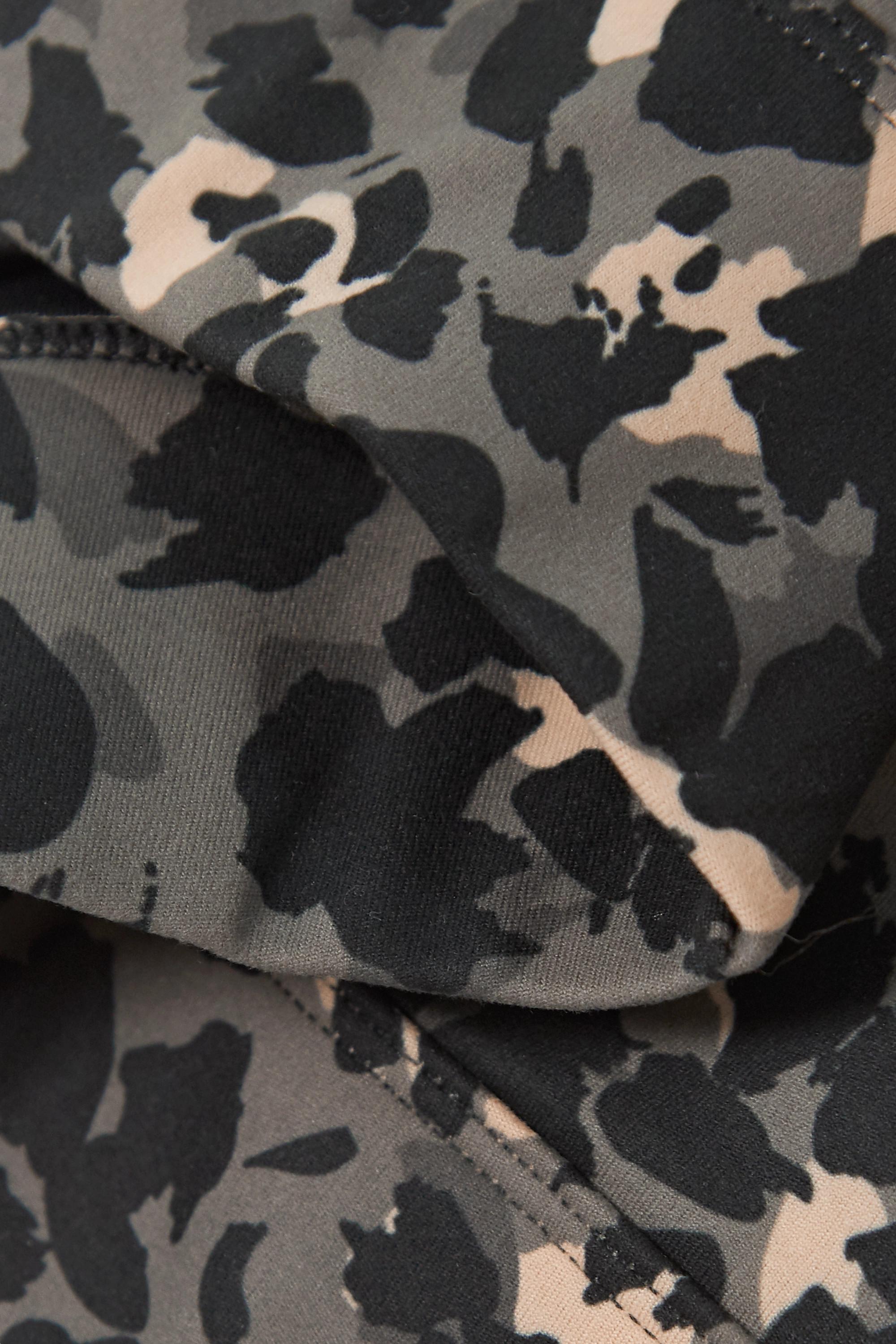 Varley Bassett Sport-BH aus Stretch-Material mit Leopardenprint