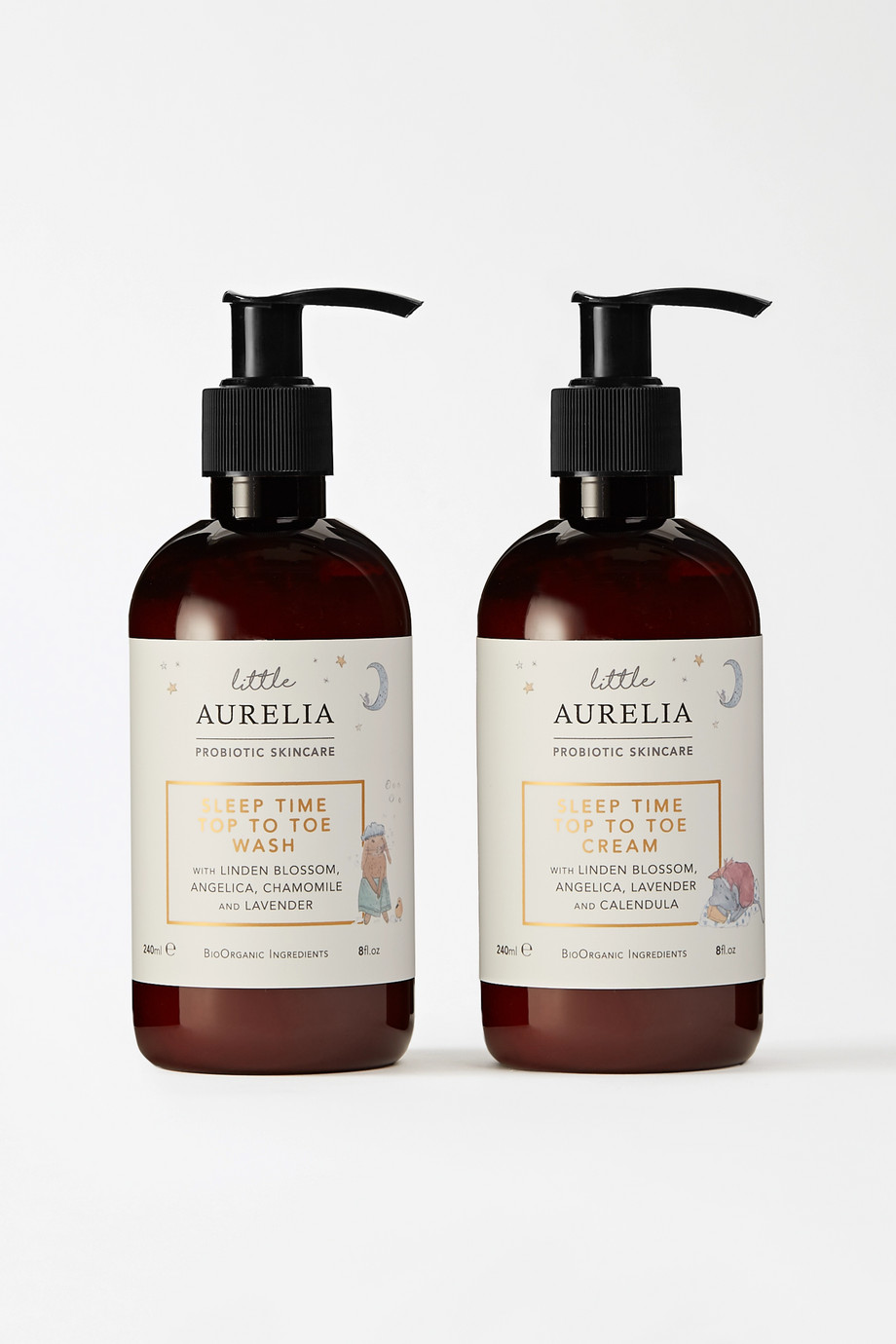 Aurelia Probiotic Skincare Little Aurelia Sleep Time Top to Toe Wash & Cream, 2 x 240ml