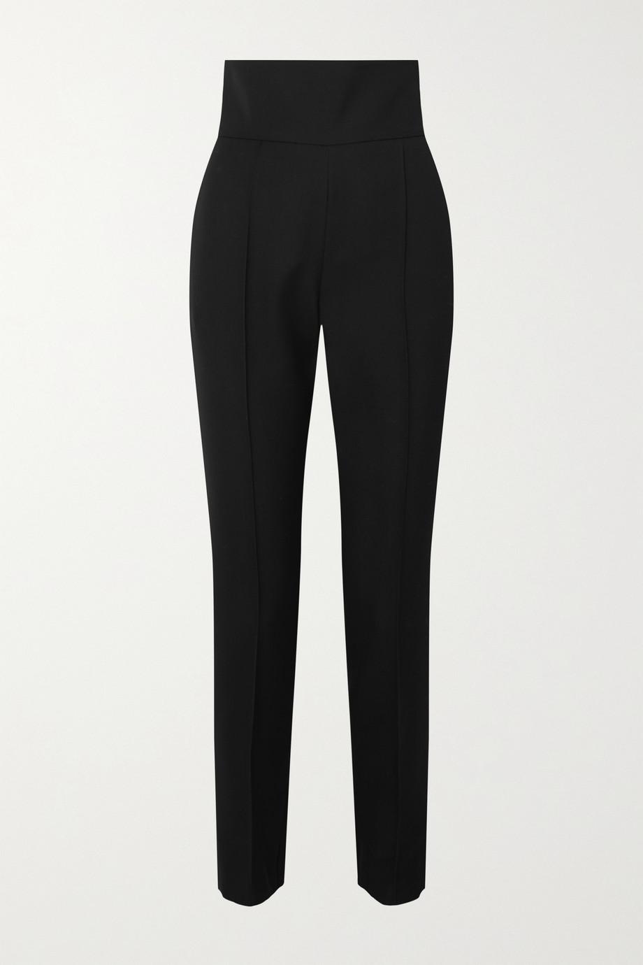 Alexandre Vauthier Wool-blend gabardine slim-leg pants