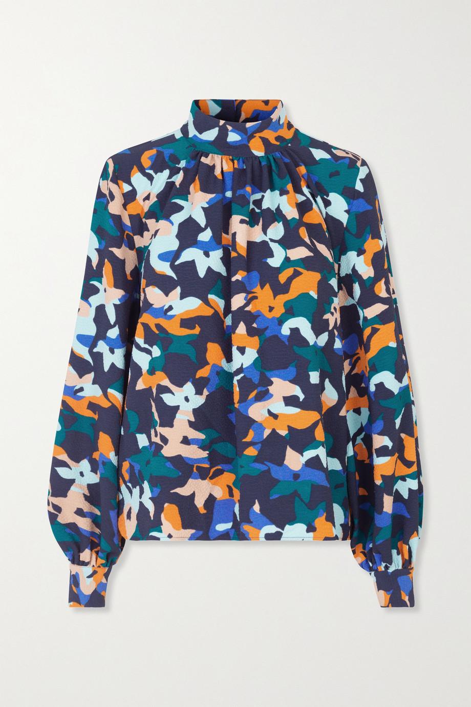 Stine Goya + NET SUSTAIN Eddy floral-print cloqué blouse