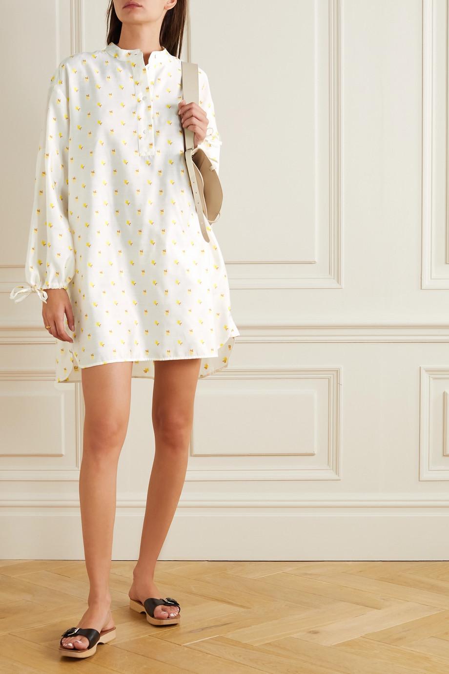 Stine Goya Neva 系带细节花卉提花迷你连衣裙