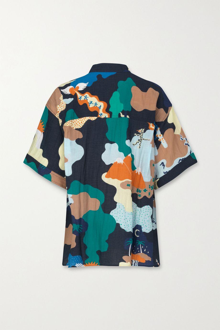 Stine Goya + NET SUSTAIN Briella printed voile top