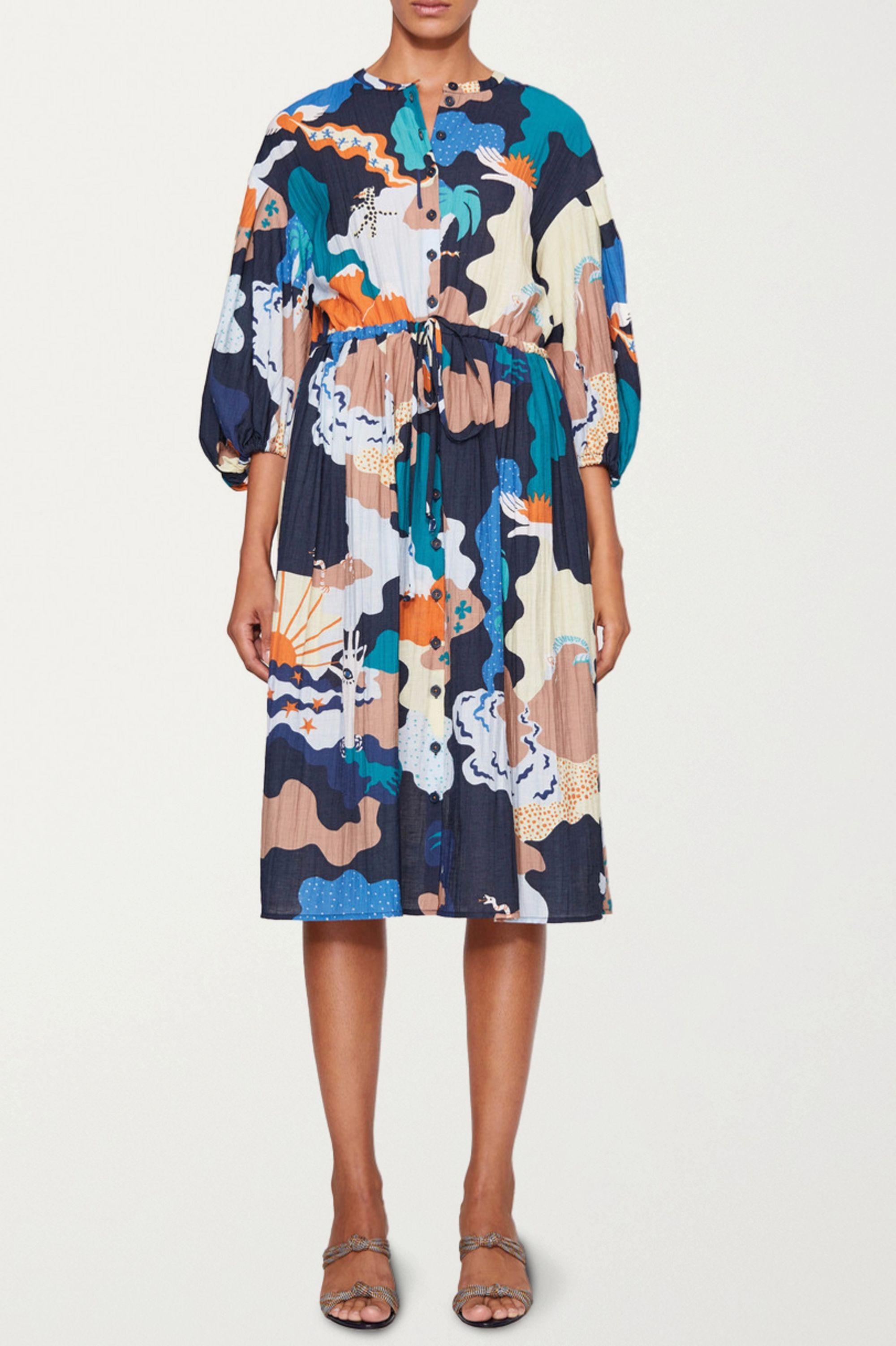 Stine Goya + NET SUSTAIN India printed voile dress