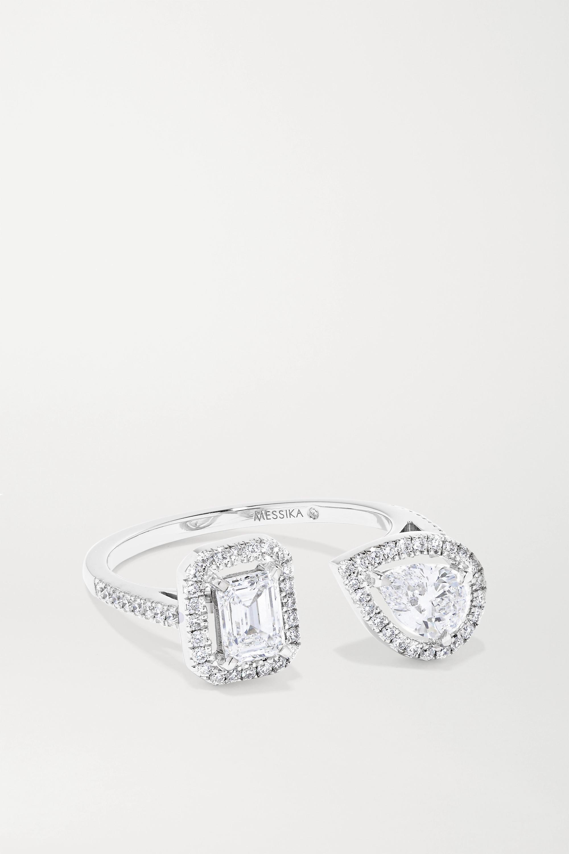 Messika My Twin Toi & Moi 18-karat white gold diamond ring