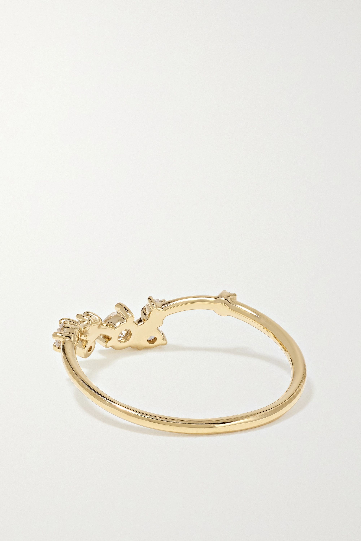 Wwake Ring aus 14 Karat Gold mit Diamanten