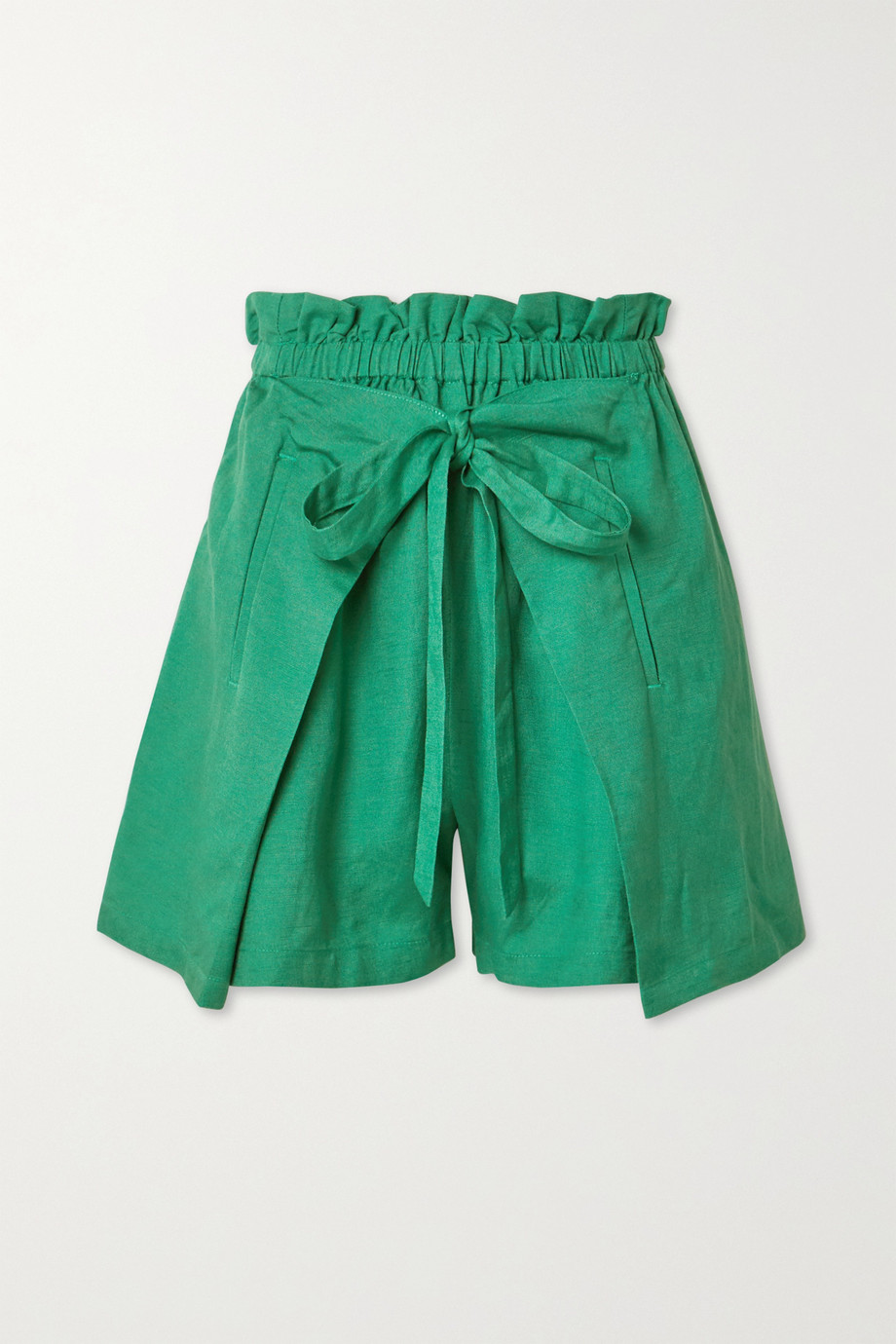 Cult Gaia Campbell tie-front linen shorts