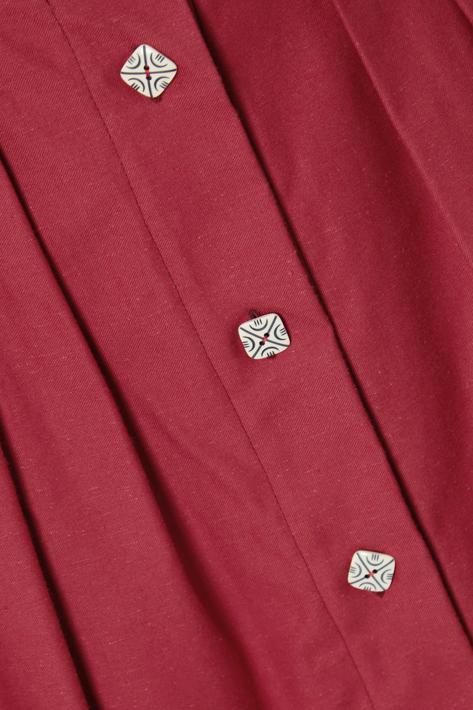 Giuliva Heritage The Giovanna pleated cotton midi skirt