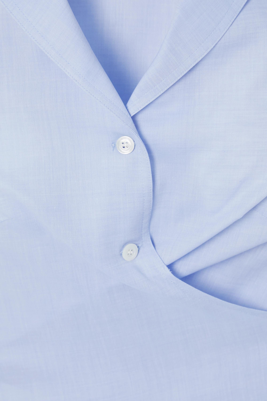 Giuliva Heritage The Elide cropped tie-back cotton-poplin shirt