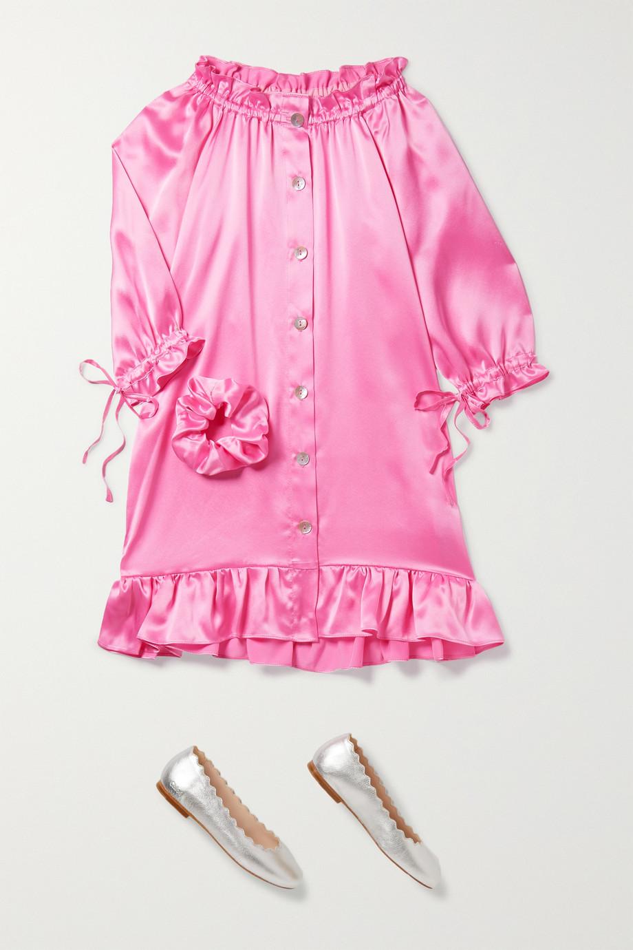 Sleeper Kids 2–15 Jahre – Zephyr Kleid aus Seidensatin mit Rüschen zum Binden