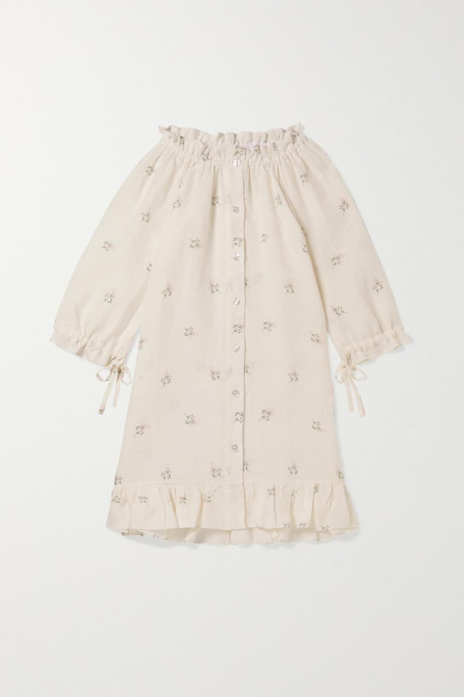 Sleeper Kids | Ages 2 - 15 tie-detailed ruffled floral-print linen dress | NET-A-PORTER.COM