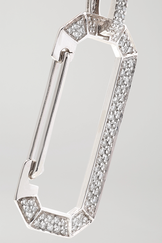 EÉRA Chiara 18-karat white gold diamond earring