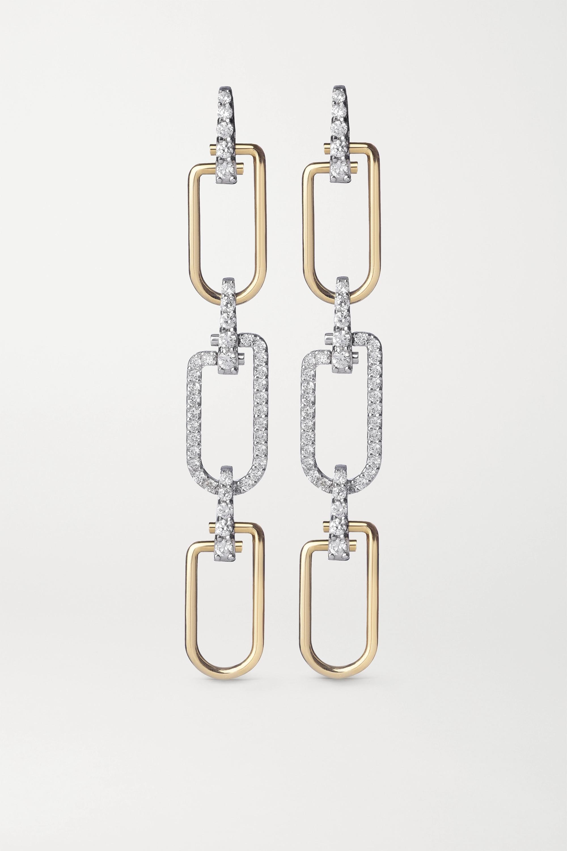 EÉRA Reine 18-karat yellow and white gold diamond earrings