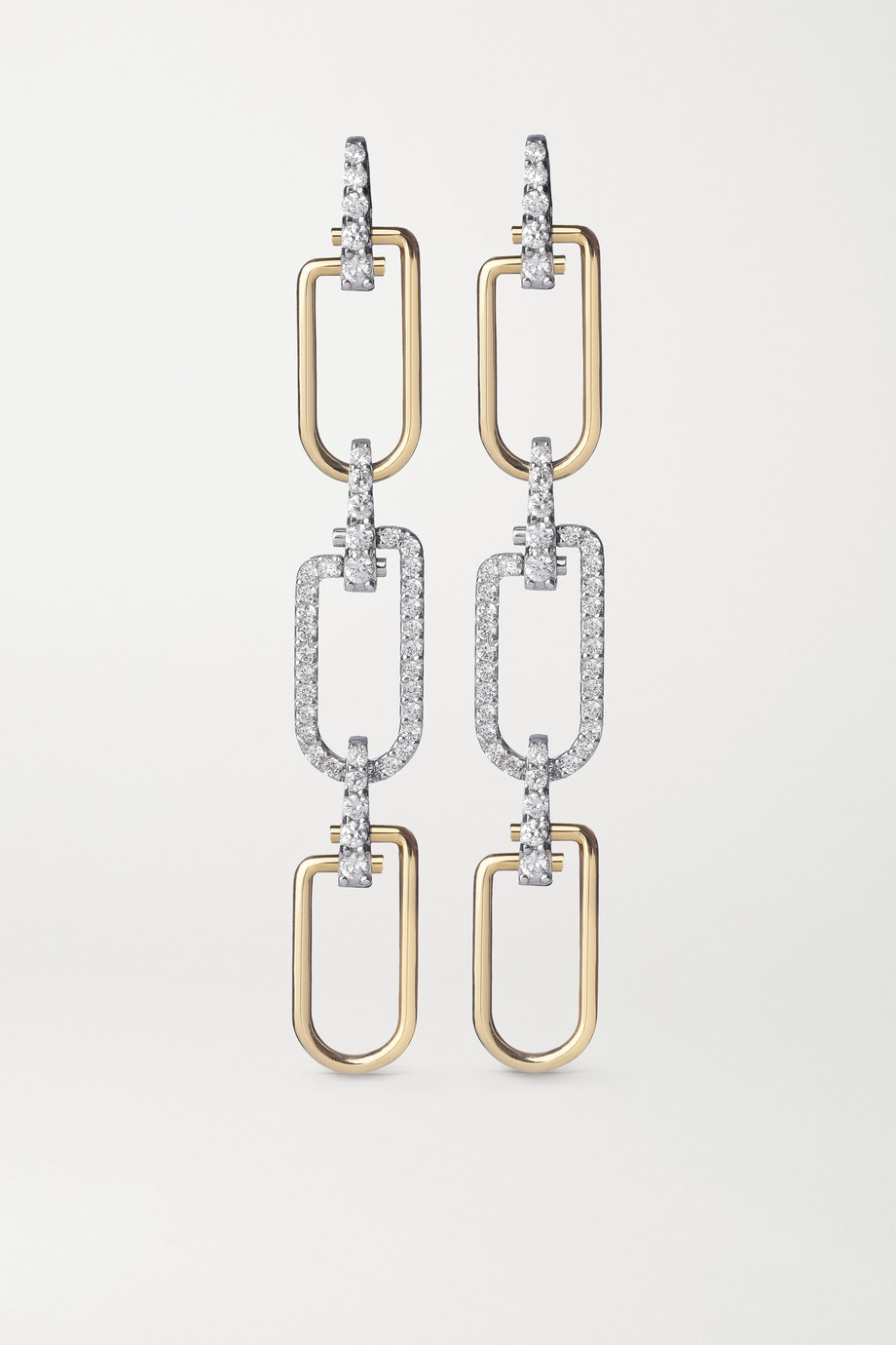 EÉRA Reine 18-karat yellow and white gold diamond earrings