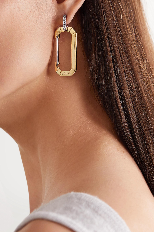 EÉRA Chiara 18-karat yellow and white gold diamond earring